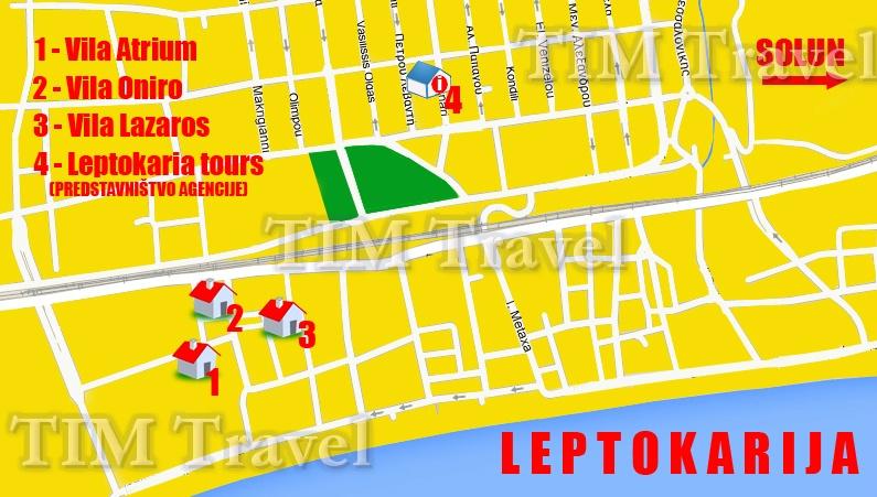 Mapa Leptokarije Grcka Superjoden